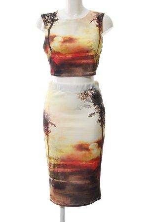 Bershka Jersey Twin Set Allover-Druck extravaganter Stil