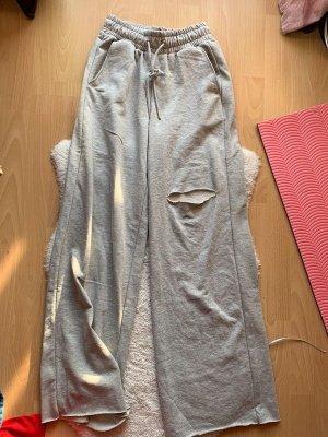 Bershka Pantalone fitness grigio chiaro-grigio