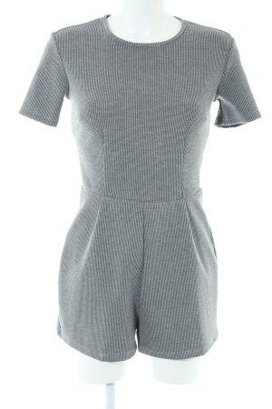 Bershka Jumpsuit schwarz-weiß grafisches Muster Elegant