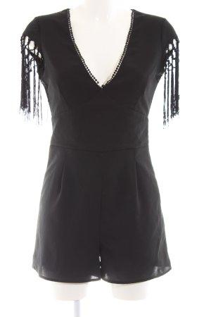 Bershka Jumpsuit schwarz Elegant