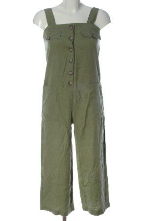 Bershka Jumpsuit khaki casual uitstraling