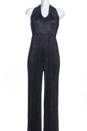 Bershka Jumpsuit schwarz meliert Elegant