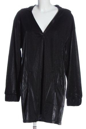 Bershka Hooded Dress black casual look
