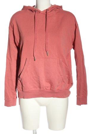 Bershka Sweat à capuche rose style décontracté