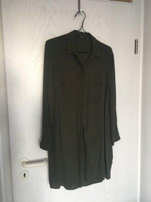 Bershka khaki langes Hemd Gr. L