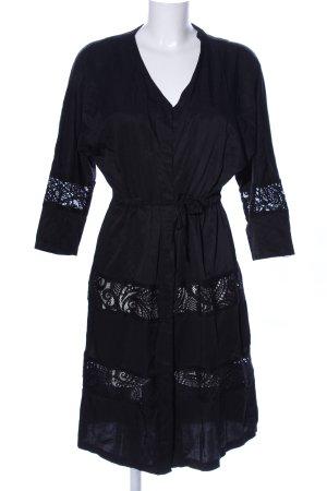 Bershka Kimono black casual look