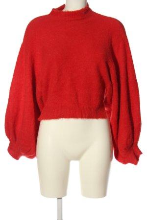 Bershka Jersey kimono rojo look casual