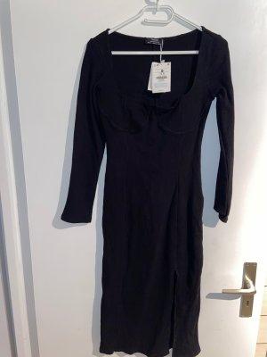 Bershka Robe mi-longue noir