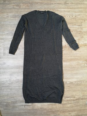 Bershka Kleid long pulli anthrazit grau S