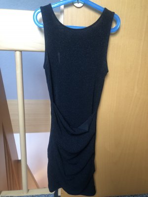 Bershka Kleid Mini schwarz Glitzer rückenfrei