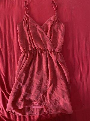 Bershka Summer Dress dark red