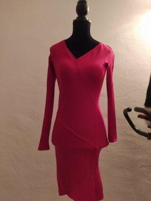Bershka Longsleeve Dress brick red