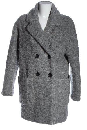 Bershka Manteau en fausse fourrure gris clair style décontracté