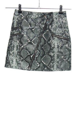 Bershka Faux Leather Skirt animal pattern elegant