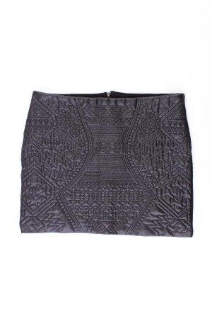 Bershka Faux Leather Skirt black polyester