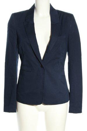 Bershka Kurz-Blazer blau Business-Look