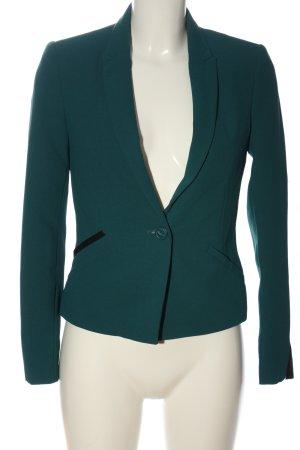Bershka Kurz-Blazer grün Business-Look