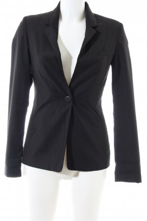 Bershka Kurz-Blazer schwarz Business-Look
