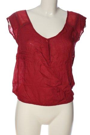 Bershka Kurzarm-Bluse rot Casual-Look