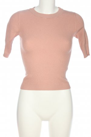 Bershka Prążkowana koszulka różowy W stylu casual