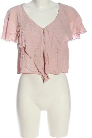 Bershka Kurzarm-Bluse pink Casual-Look