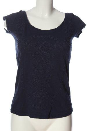 Bershka Kurzarm-Bluse blau Casual-Look