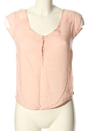 Bershka Blouse à manches courtes rose chair style décontracté
