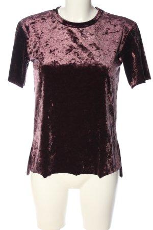 Bershka Kurzarm-Bluse lila extravaganter Stil