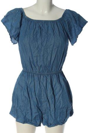 Bershka Kurzer Jumpsuit blue casual look