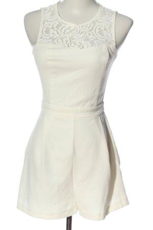 Bershka Kurzer Jumpsuit blanc élégant