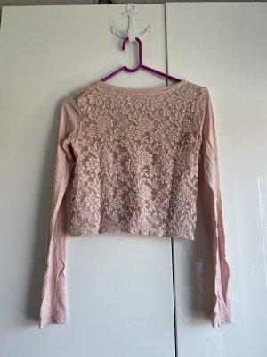 Bershka kurzer Pullover mit Spitze