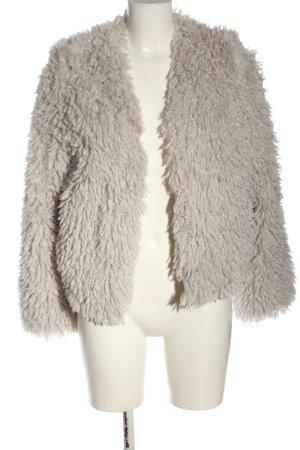 Bershka Giacca in eco pelliccia grigio chiaro stile casual