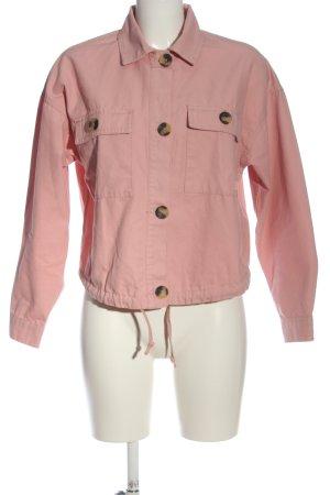 Bershka Kurzjacke pink Casual-Look