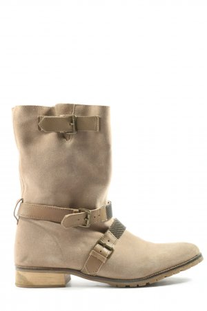 Bershka Krótkie buty w kolorze białej wełny W stylu casual