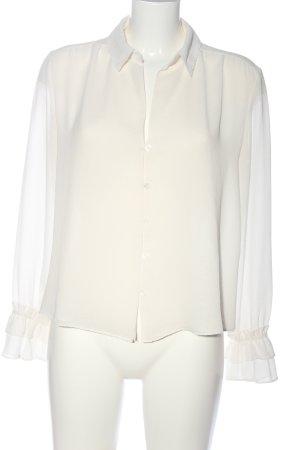Bershka Langarm-Bluse weiß Elegant