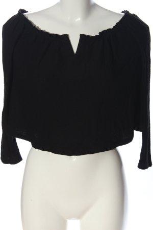 Bershka Langarm-Bluse schwarz Casual-Look