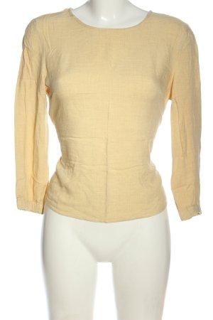Bershka Langarm-Bluse blassgelb Business-Look