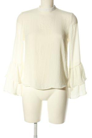 Bershka Langarm-Bluse creme Business-Look