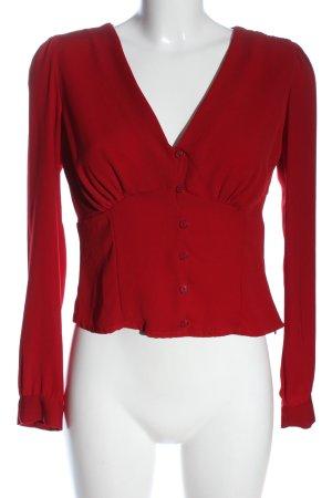 Bershka Langarm-Bluse rot Casual-Look