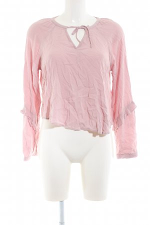 Bershka Langarm-Bluse pink Business-Look