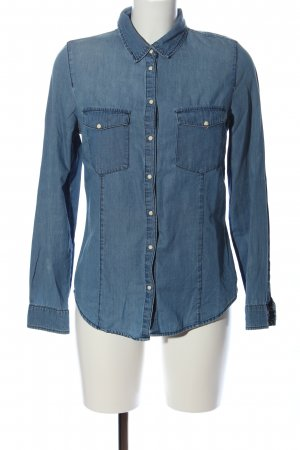 Bershka Langarmhemd blau Casual-Look