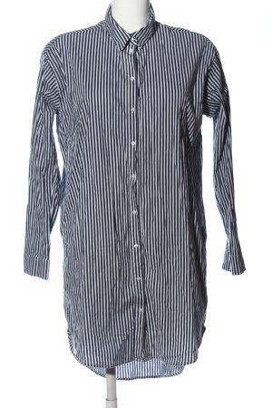 Bershka Langarmhemd schwarz-weiß Streifenmuster Casual-Look