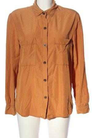 Bershka Chemise à manches longues orange clair style décontracté