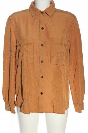 Bershka Koszula z długim rękawem jasny pomarańczowy W stylu biznesowym