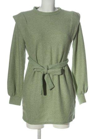Bershka Langarmkleid grün Casual-Look