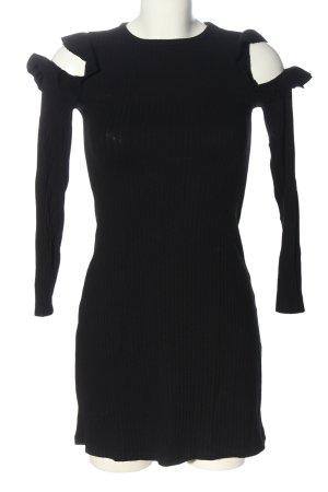 Bershka Abito a maniche lunghe nero stile casual