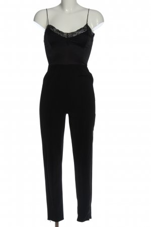 Bershka Langer Jumpsuit schwarz Elegant