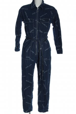 Bershka Langer Jumpsuit blau Elegant
