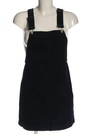Bershka Overgooier overall rok blauw gestreept patroon casual uitstraling