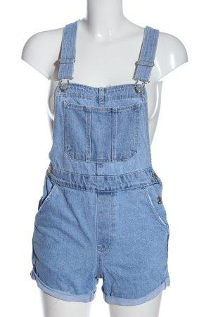 Bershka Bib Shorts blue casual look